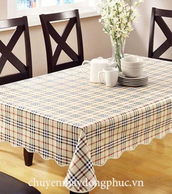 May khăn trải bàn caro nhà hàng