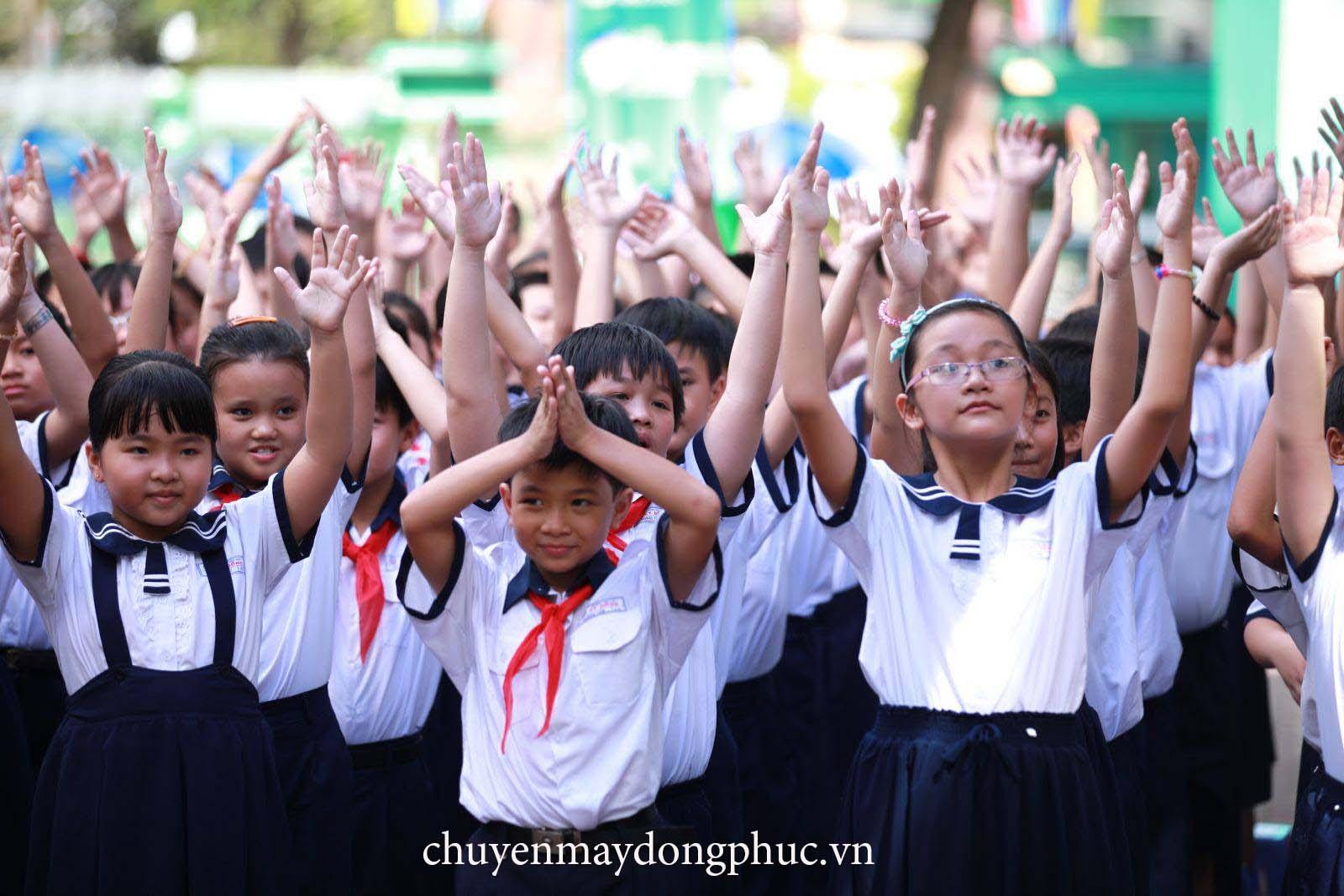 Chuyên may đồng phục trường tiểu học tại quận 6