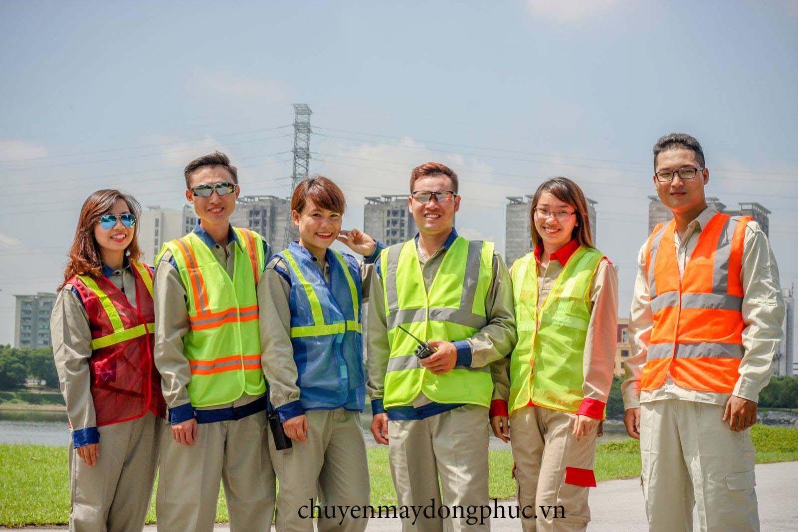Xưởng may đồng phục công nhân xây dựng